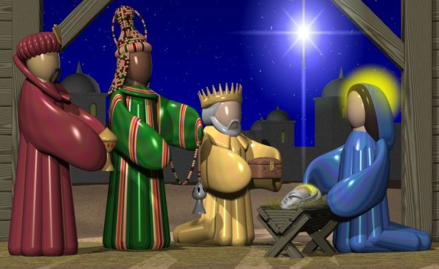 The Wise Men Visit Jesus